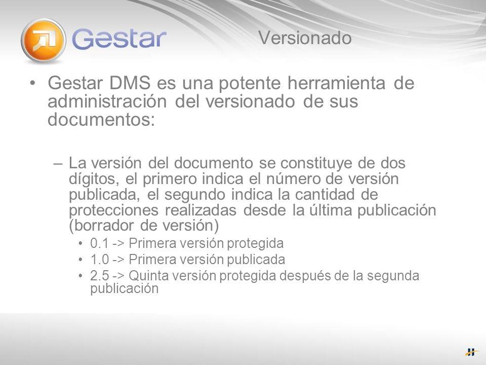 Versionado Gestar DMS es una potente herramienta de administración del versionado de sus documentos: