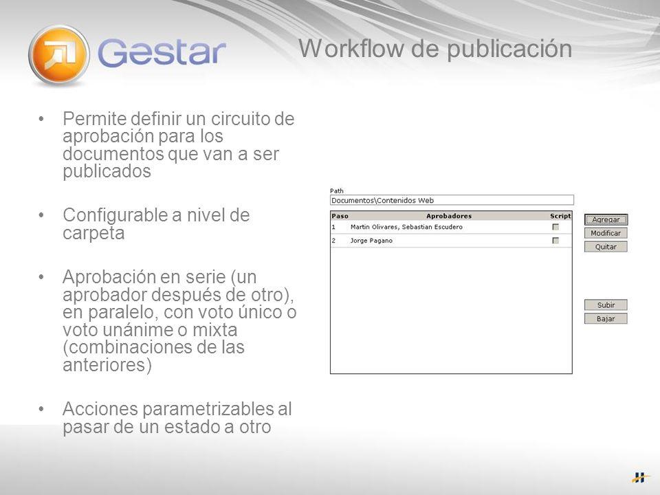 Workflow de publicación