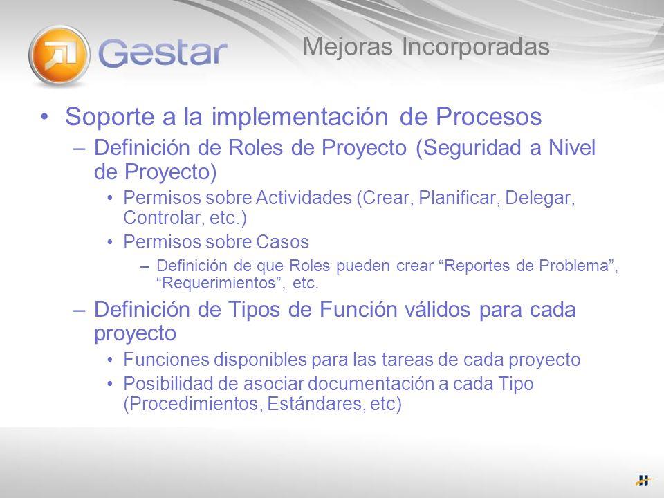 Soporte a la implementación de Procesos