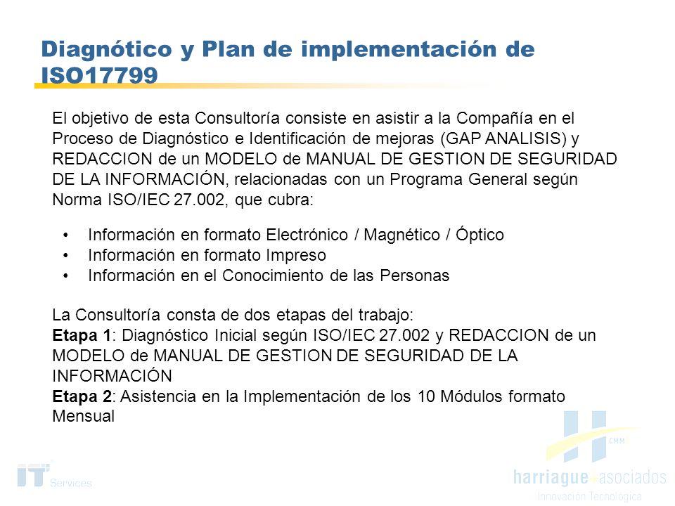 Diagnótico y Plan de implementación de ISO17799
