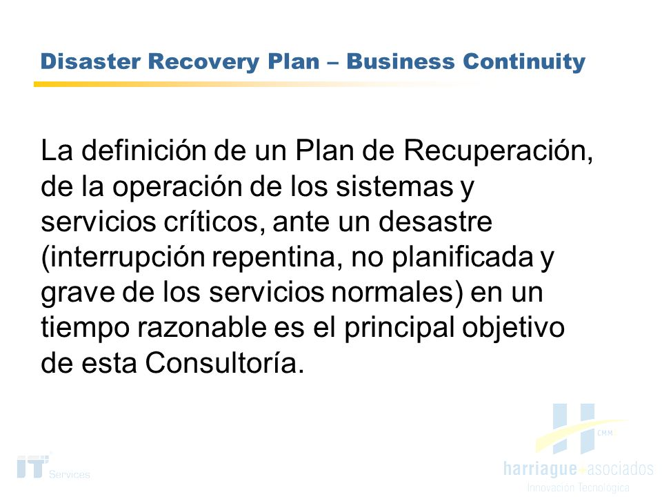 Disaster Recovery Plan – Business Continuity