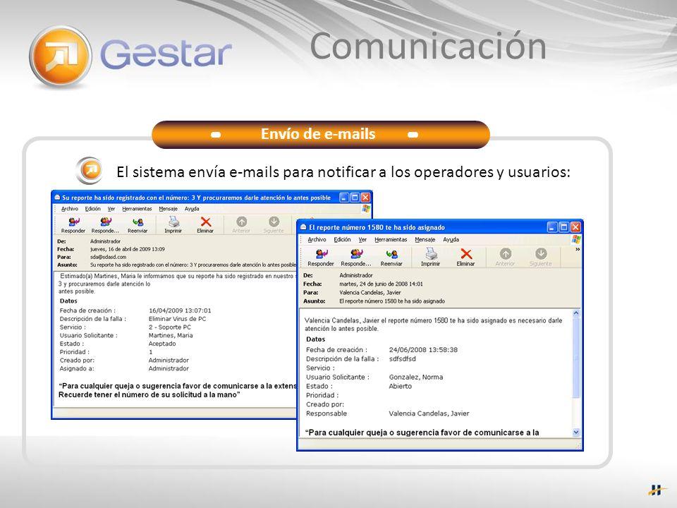 Comunicación Envío de e-mails