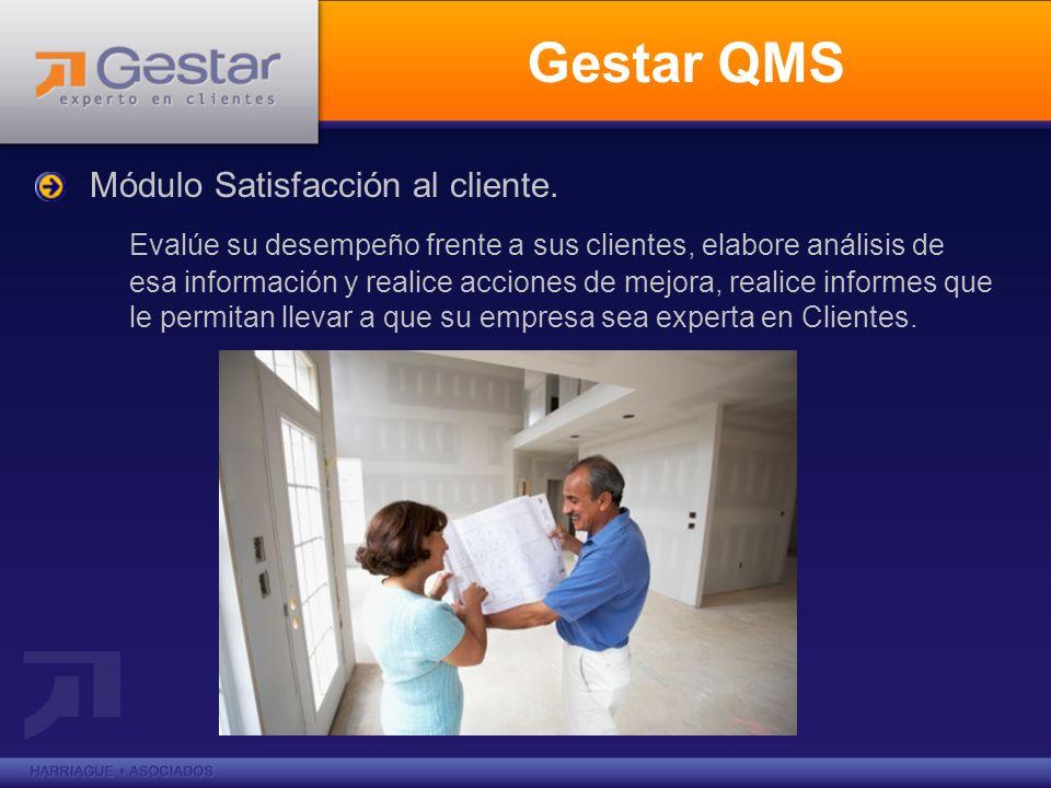 Gestar QMSMódulo Satisfacción al cliente.