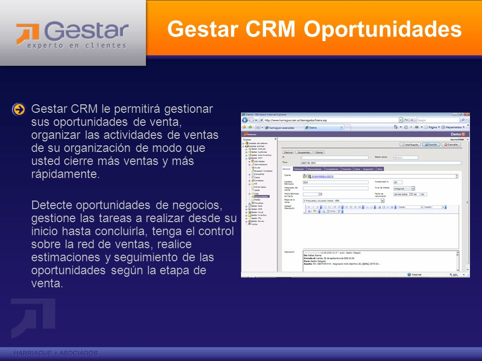 Gestar CRM Oportunidades