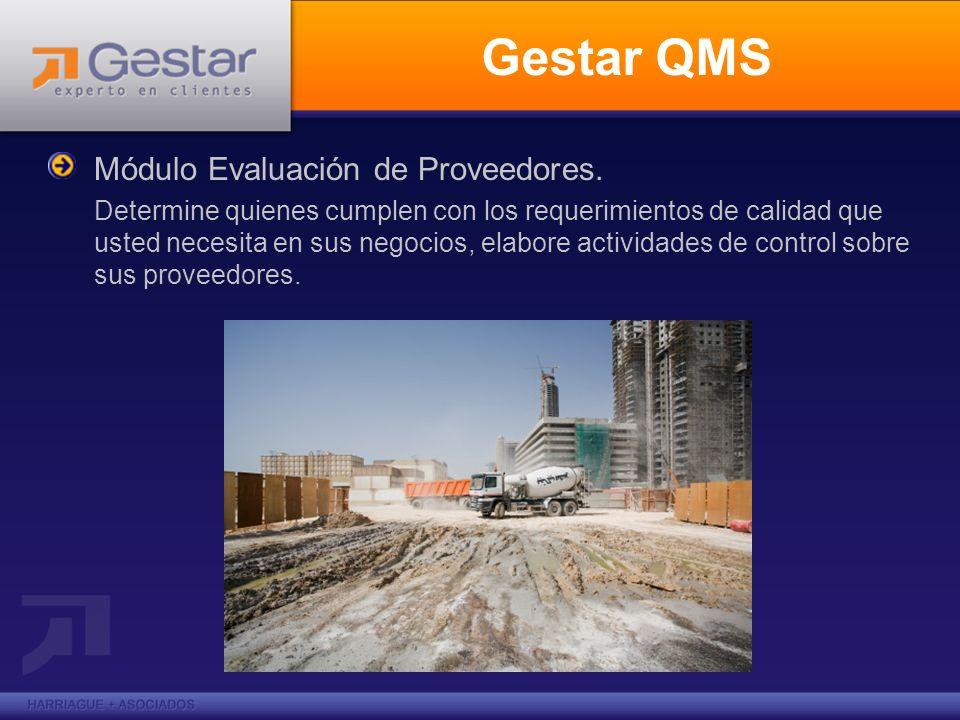 Gestar QMS Módulo Evaluación de Proveedores.