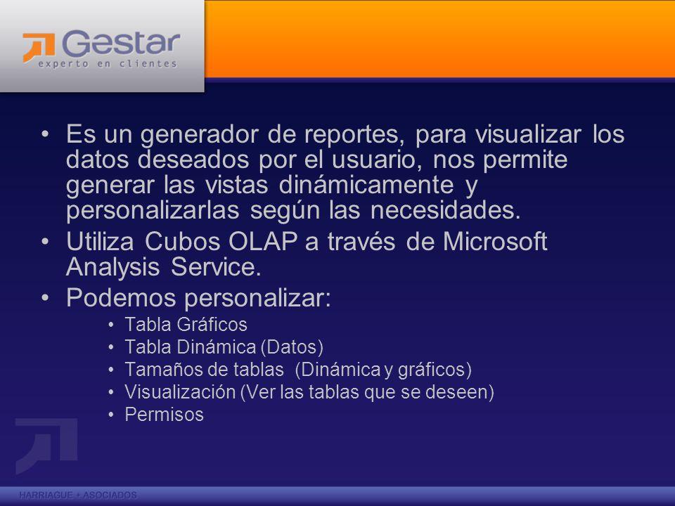Utiliza Cubos OLAP a través de Microsoft Analysis Service.