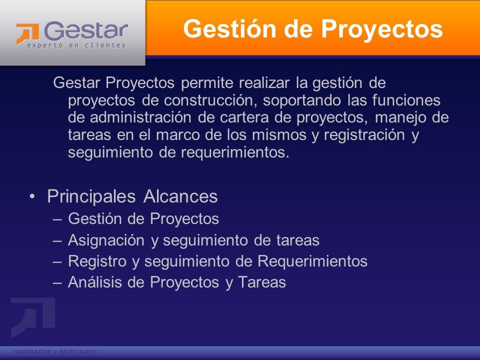 Gestión de Proyectos Principales Alcances