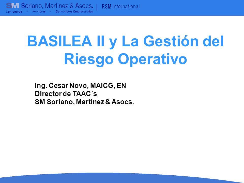 BASILEA II y La Gestión del Riesgo Operativo