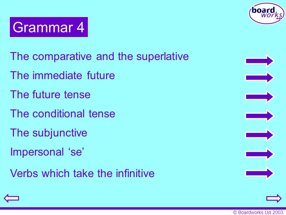 Grammar 4 The comparative and the superlative The immediate future