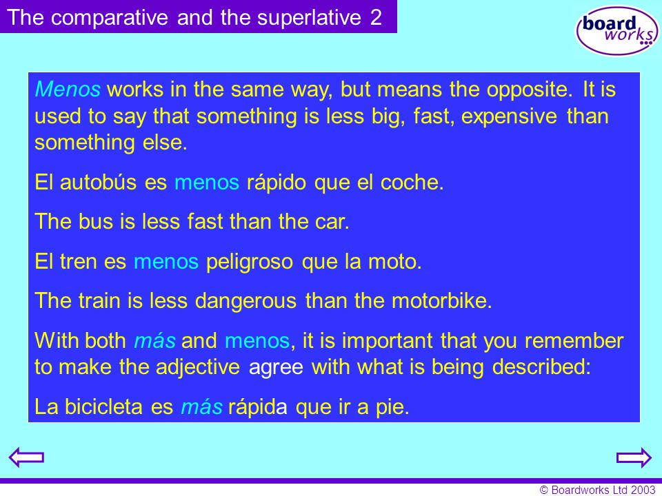 The comparative and the superlative 2