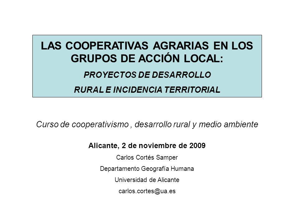 LAS COOPERATIVAS AGRARIAS EN LOS GRUPOS DE ACCIÓN LOCAL: