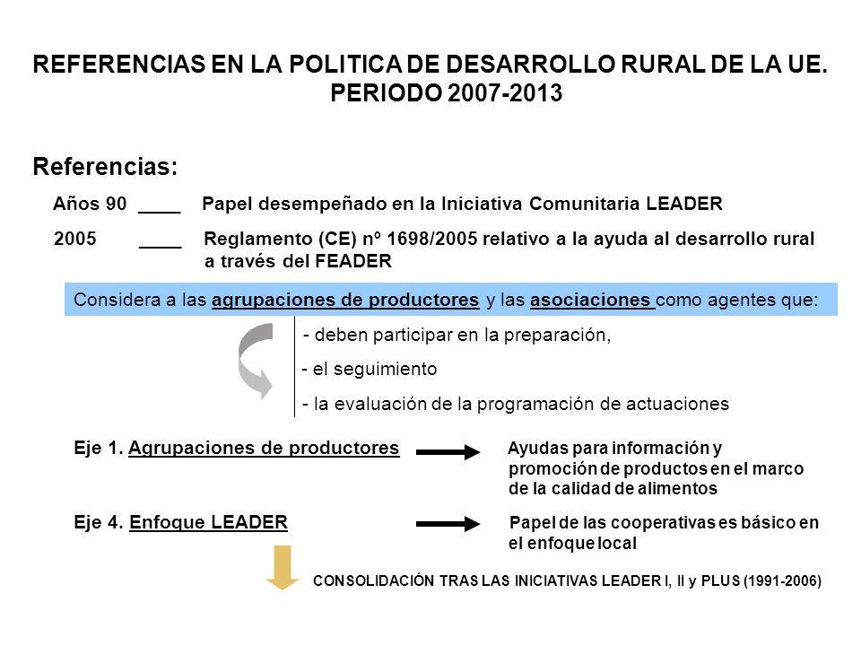 CONSOLIDACIÓN TRAS LAS INICIATIVAS LEADER I, II y PLUS (1991-2006)