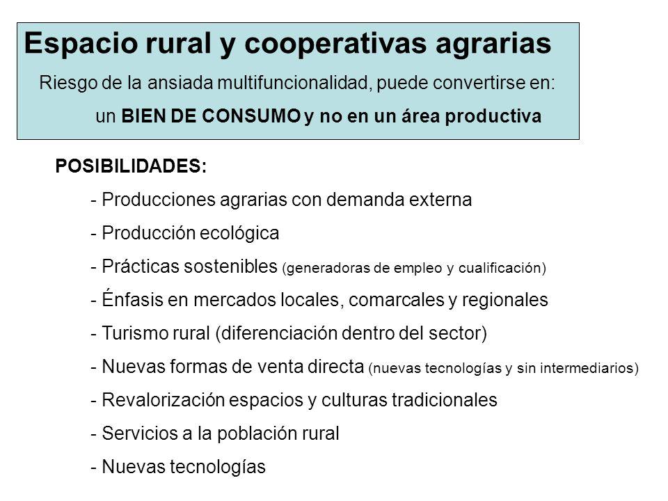 Espacio rural y cooperativas agrarias