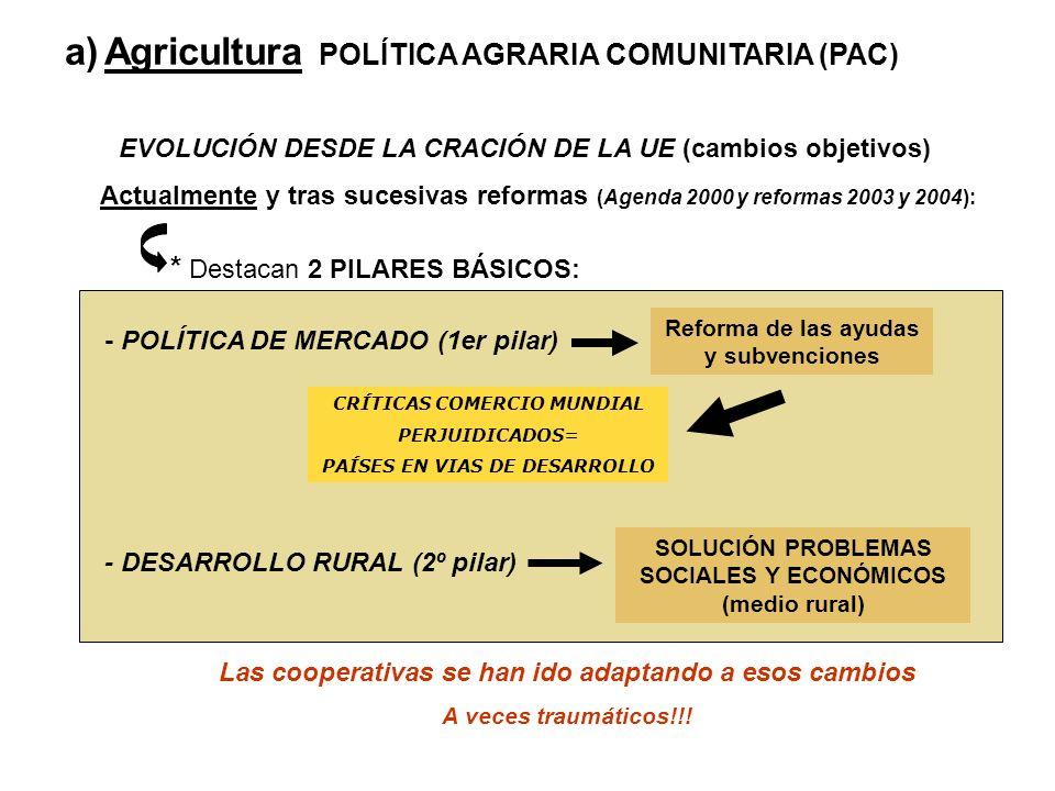 Agricultura POLÍTICA AGRARIA COMUNITARIA (PAC)