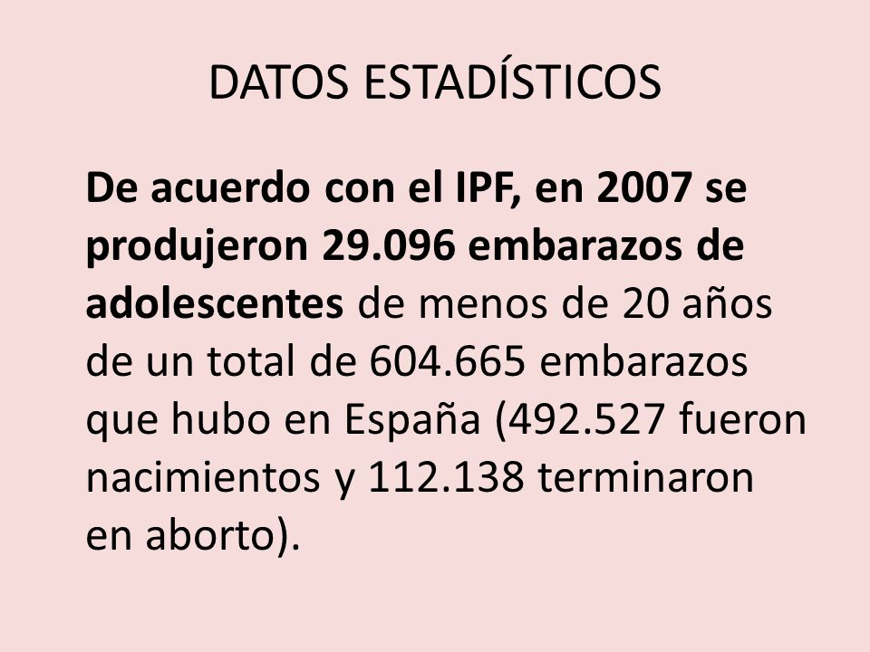 DATOS ESTADÍSTICOS