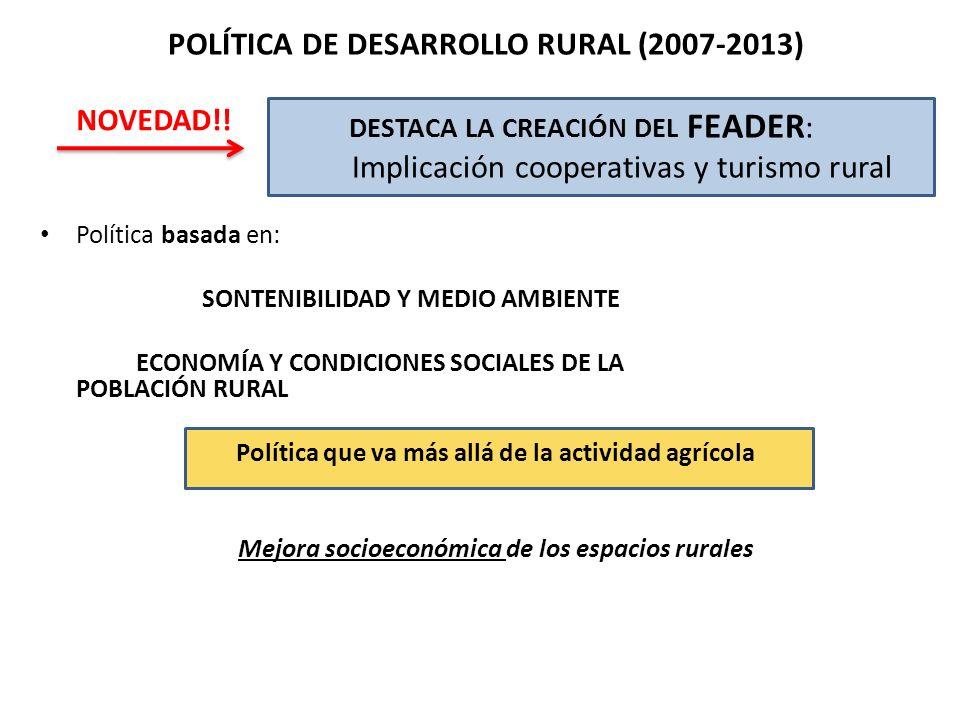 Política que va más allá de la actividad agrícola