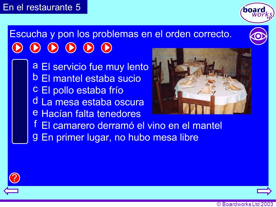 En el restaurante 5