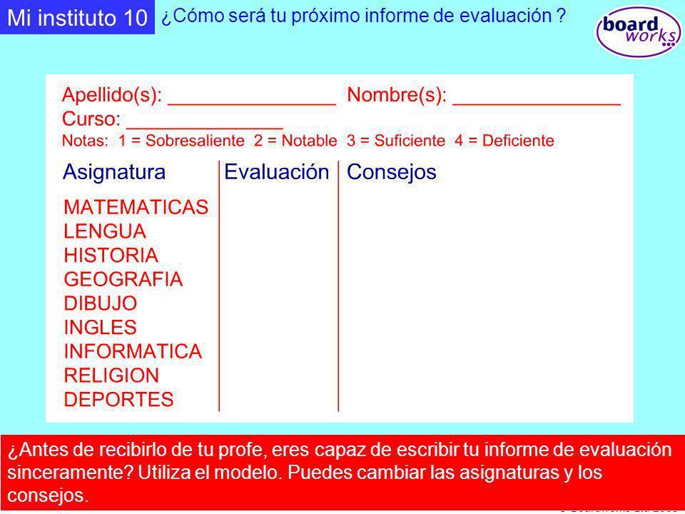 Mi instituto 10 ¿Cómo será tu próximo informe de evaluación