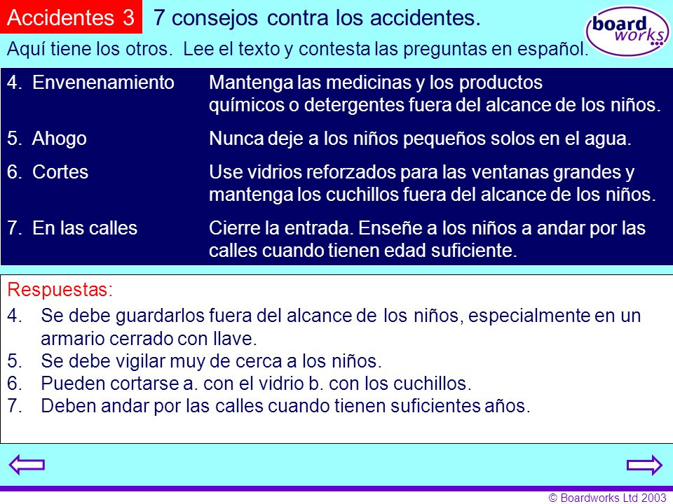 7 consejos contra los accidentes.