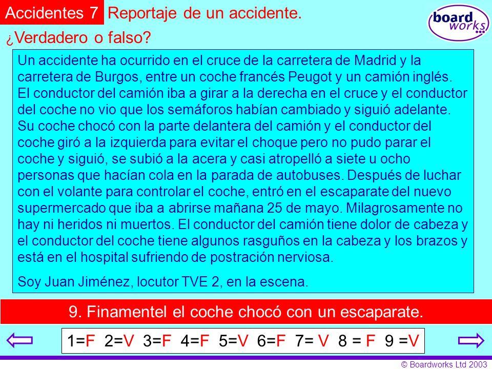 Reportaje de un accidente.
