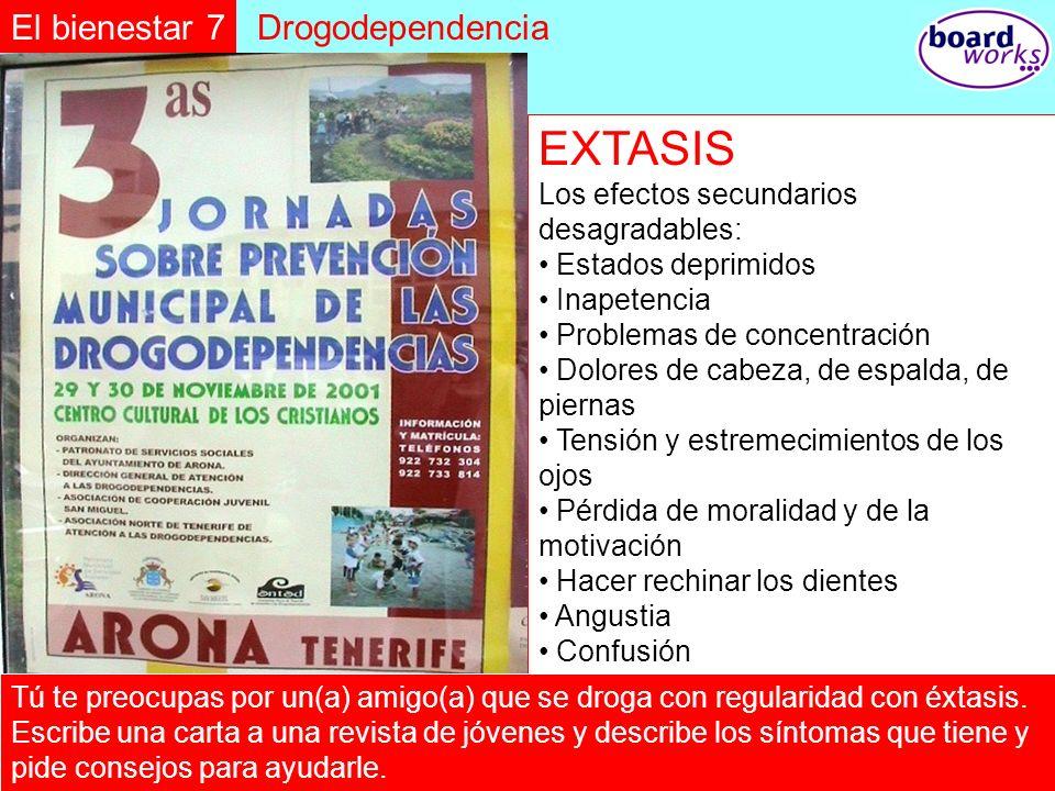 EXTASIS El bienestar 7 Drogodependencia