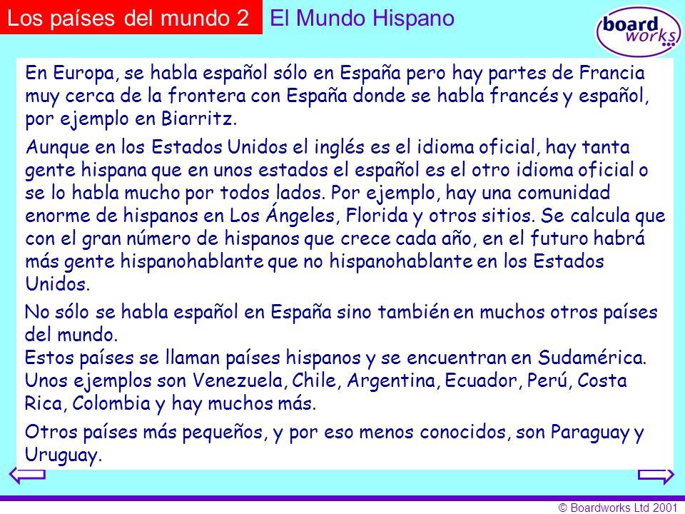 Los países del mundo 2 El Mundo Hispano