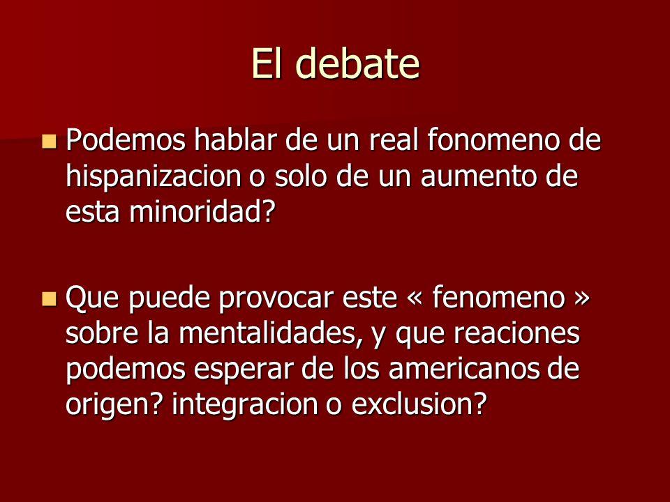 El debate Podemos hablar de un real fonomeno de hispanizacion o solo de un aumento de esta minoridad