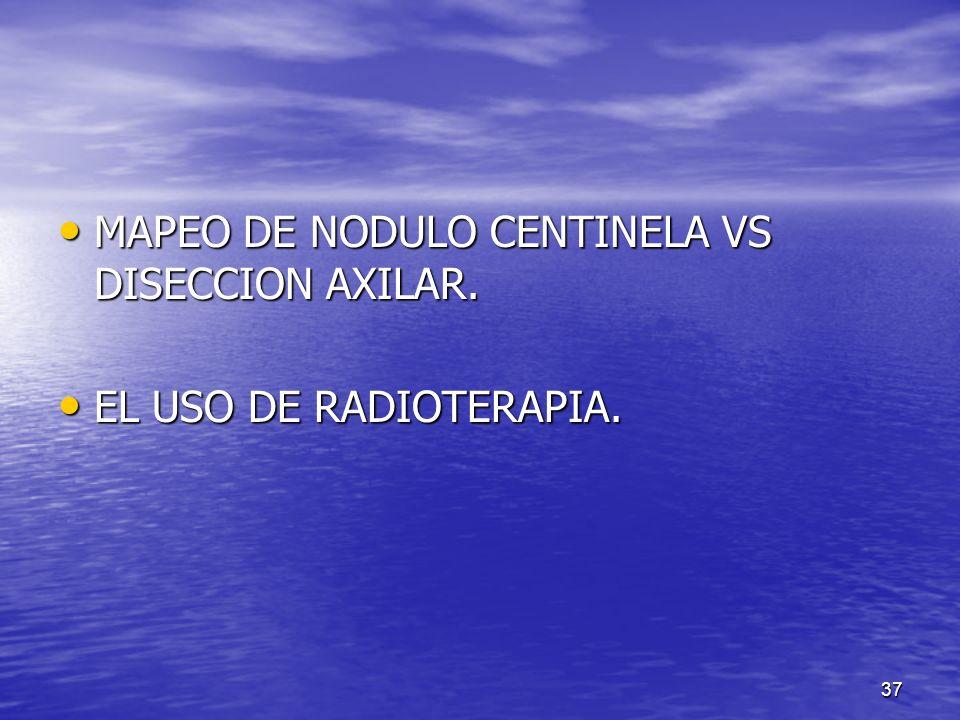 MAPEO DE NODULO CENTINELA VS DISECCION AXILAR.