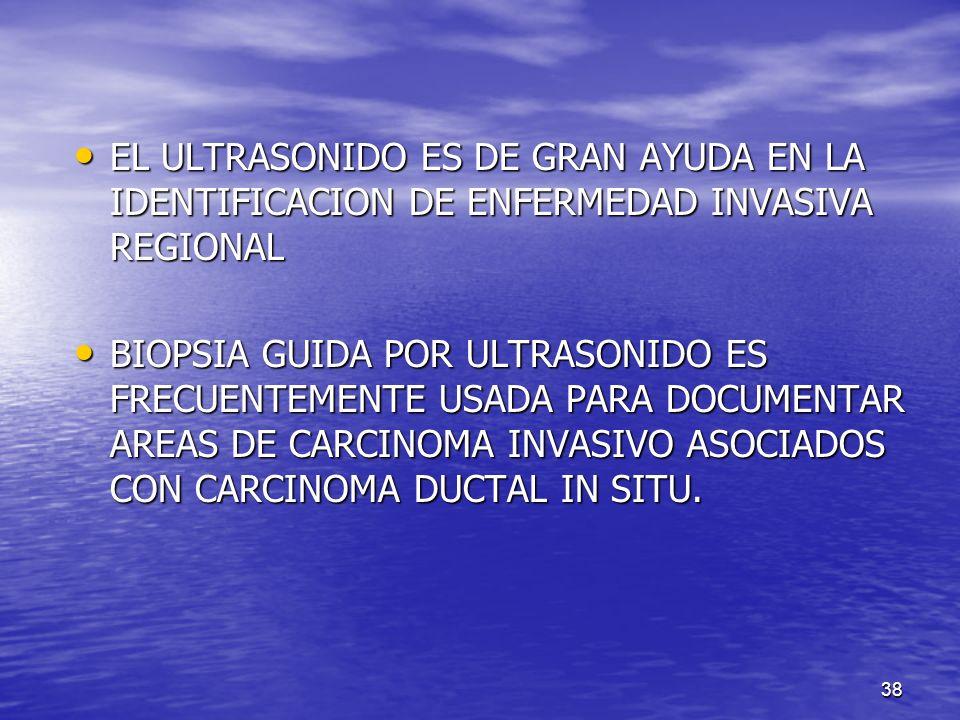 EL ULTRASONIDO ES DE GRAN AYUDA EN LA IDENTIFICACION DE ENFERMEDAD INVASIVA REGIONAL