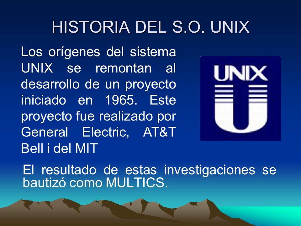 HISTORIA DEL S.O. UNIX