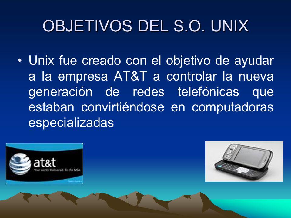 OBJETIVOS DEL S.O. UNIX