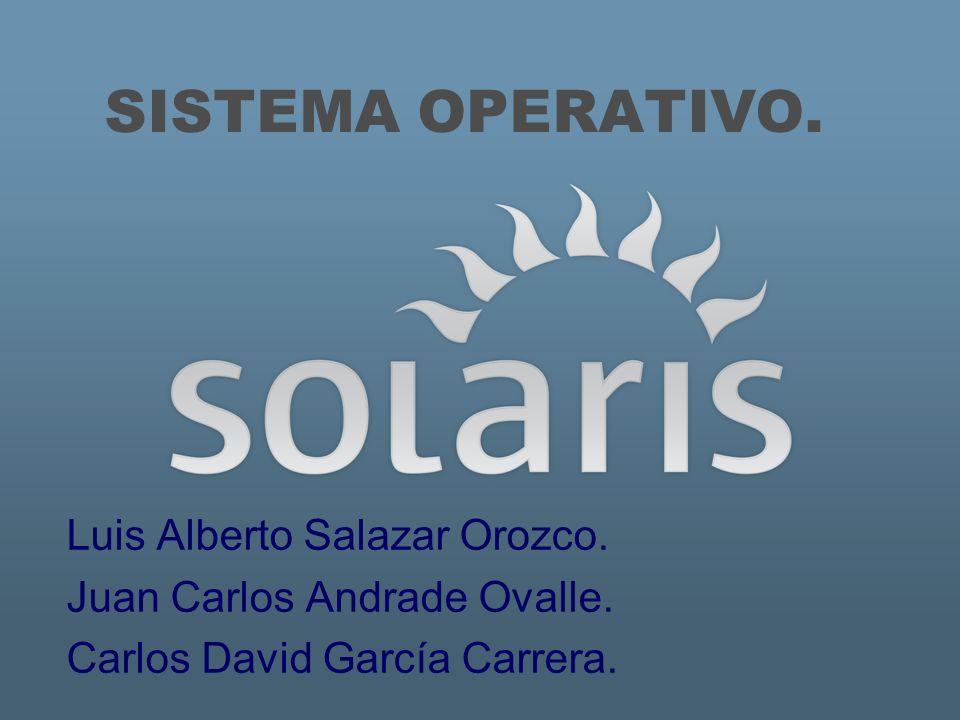 SISTEMA OPERATIVO. Luis Alberto Salazar Orozco.