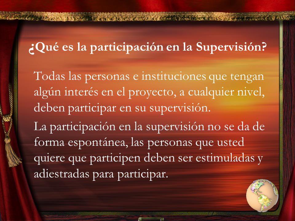 ¿Qué es la participación en la Supervisión