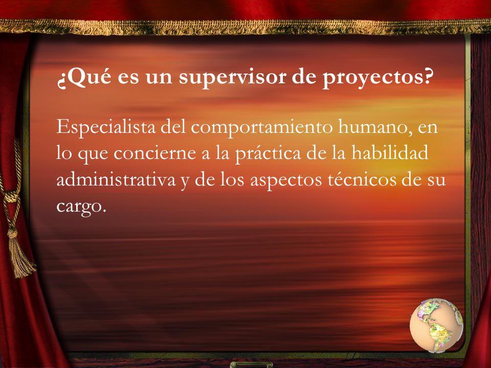 ¿Qué es un supervisor de proyectos