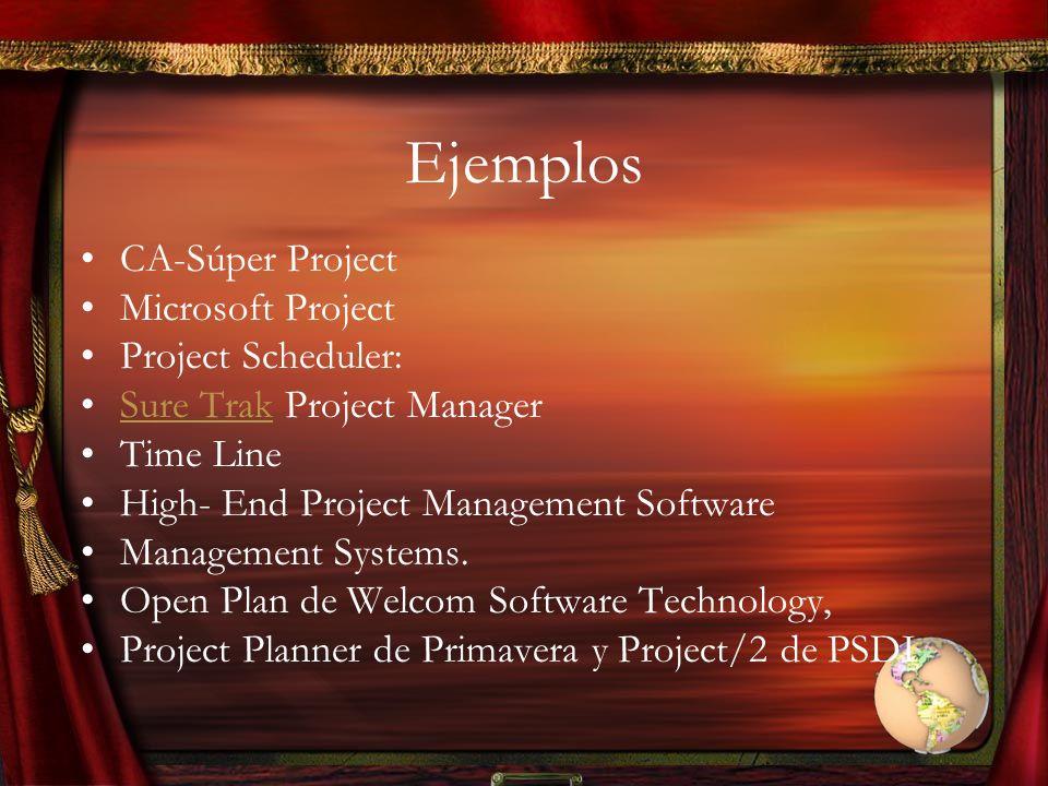 Ejemplos CA-Súper Project Microsoft Project Project Scheduler: