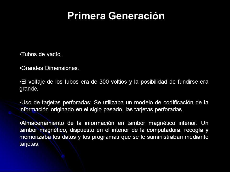 Primera Generación Tubos de vacío. Grandes Dimensiones.
