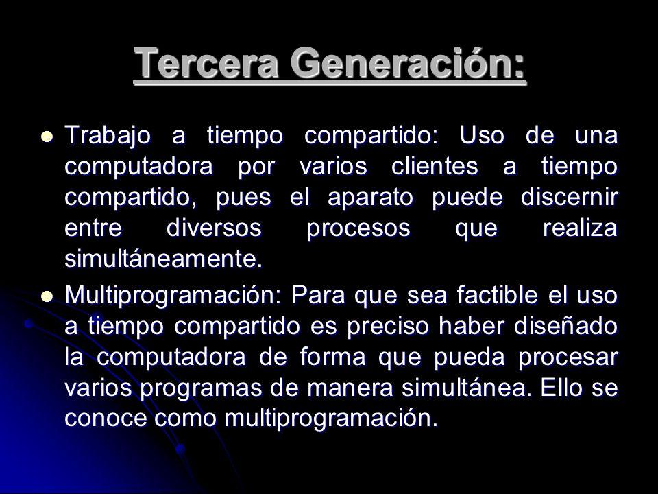 Tercera Generación: