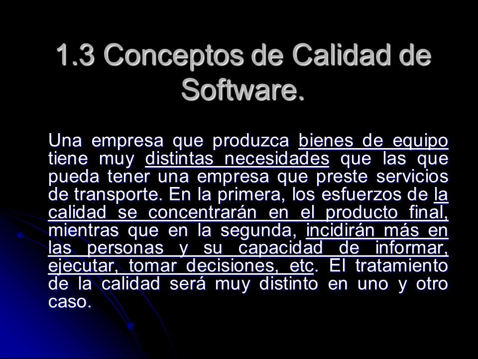 1.3 Conceptos de Calidad de Software.
