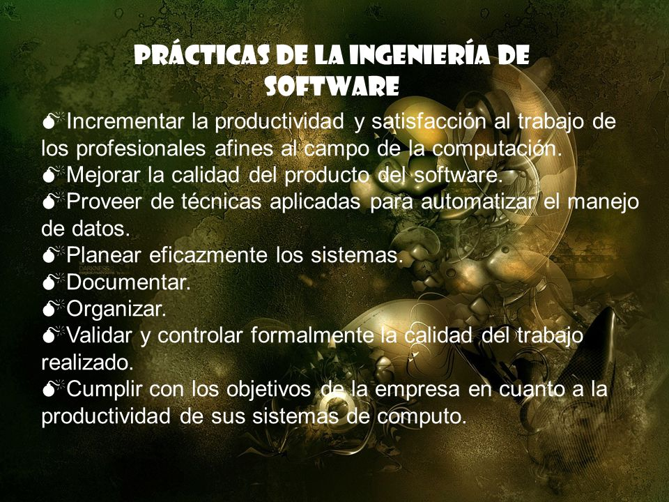 Prácticas de la ingeniería de Software