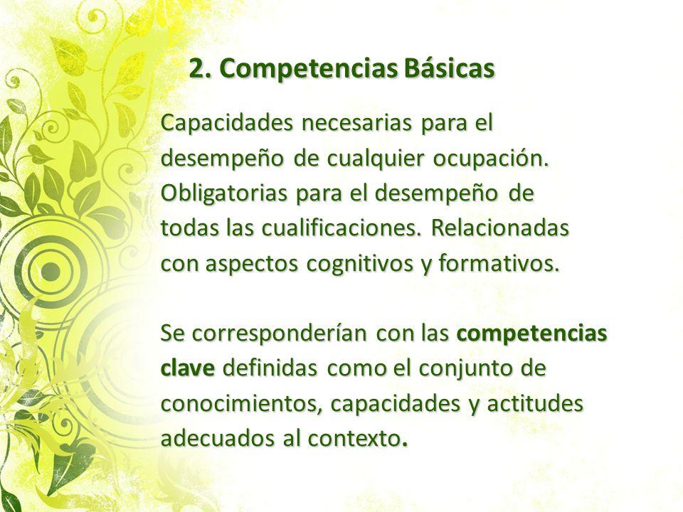 2. Competencias Básicas Capacidades necesarias para el