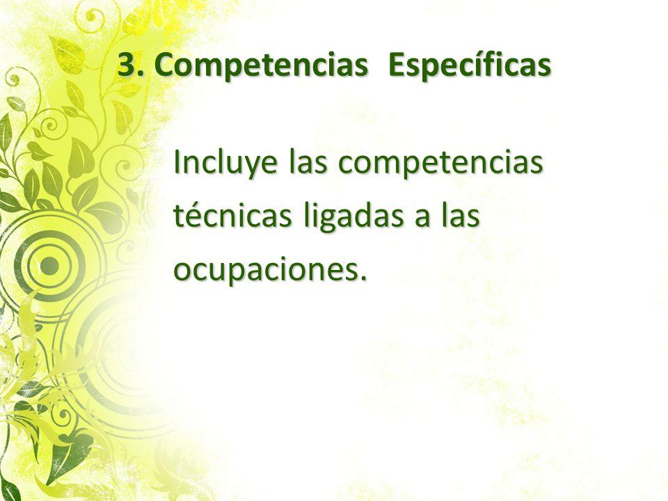 3. Competencias Específicas