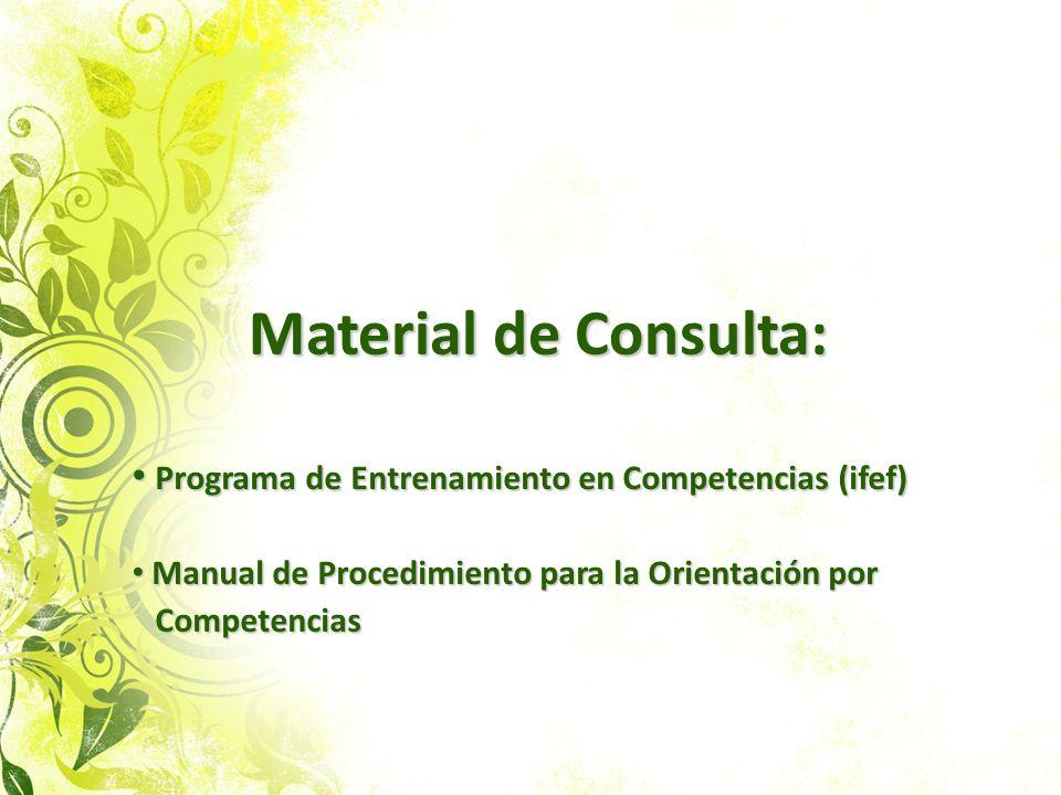 Material de Consulta: Programa de Entrenamiento en Competencias (ifef)