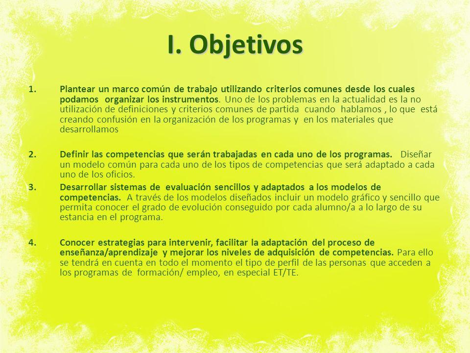 I. Objetivos