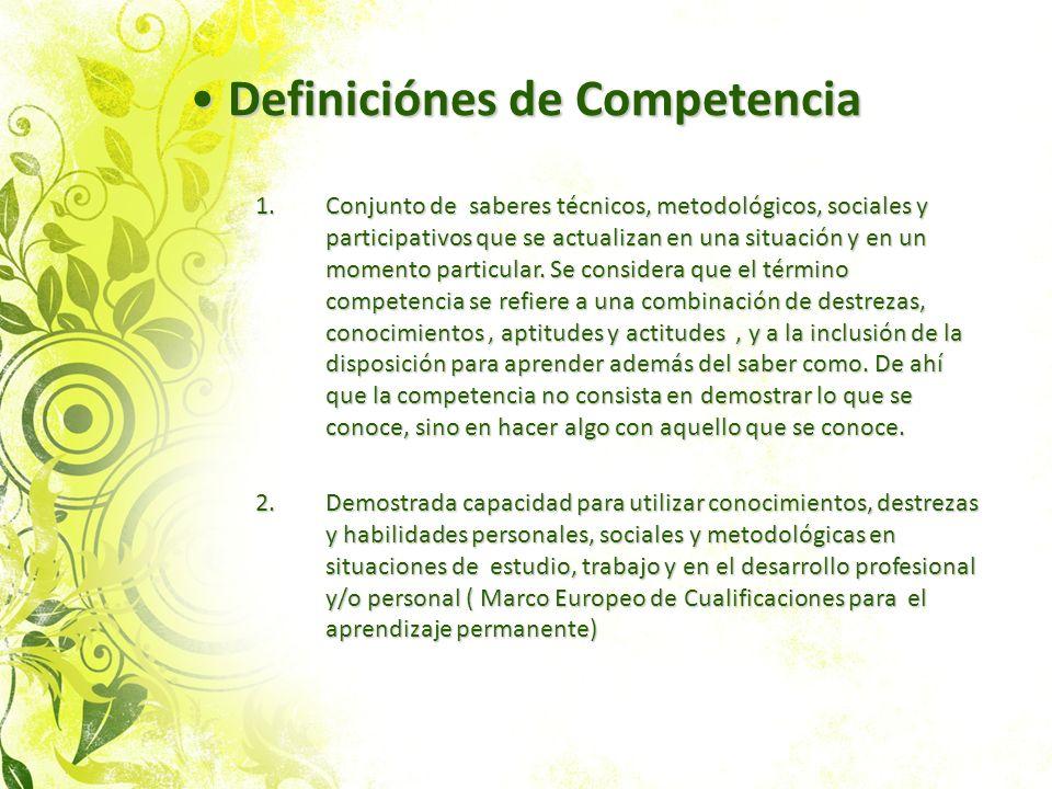 Definiciónes de Competencia