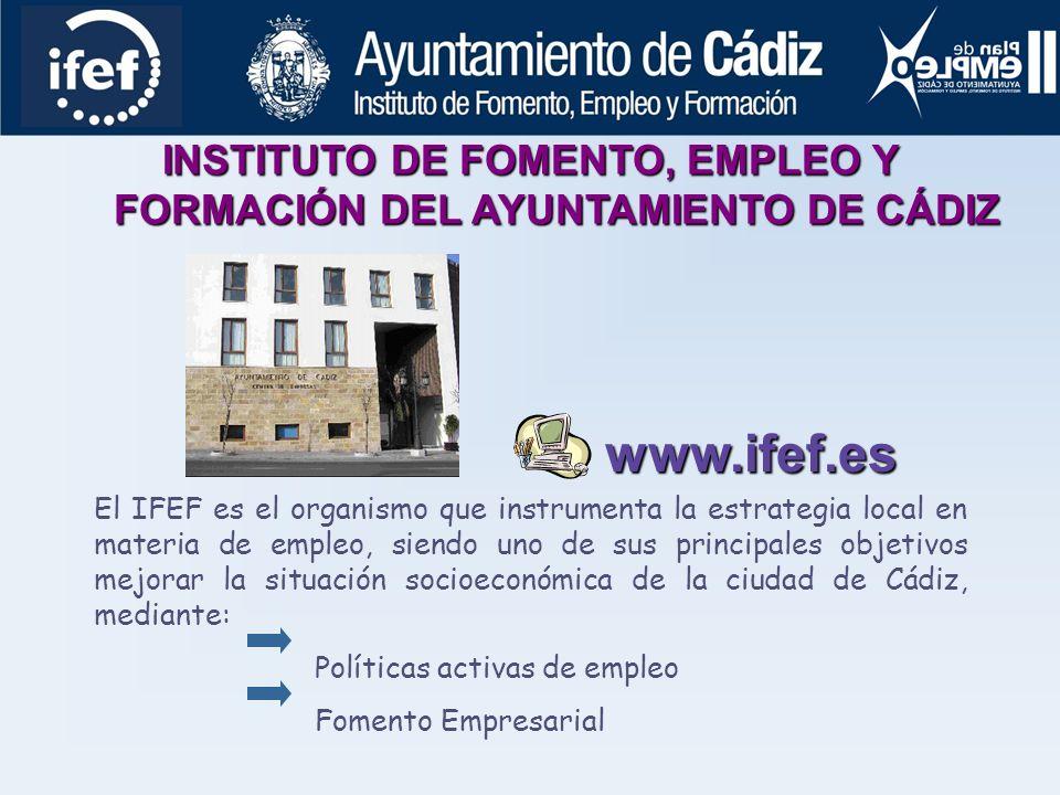 INSTITUTO DE FOMENTO, EMPLEO Y FORMACIÓN DEL AYUNTAMIENTO DE CÁDIZ