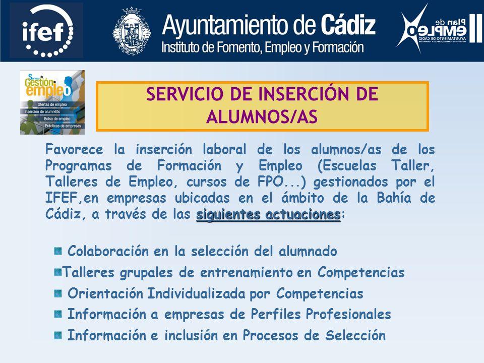 SERVICIO DE INSERCIÓN DE ALUMNOS/AS