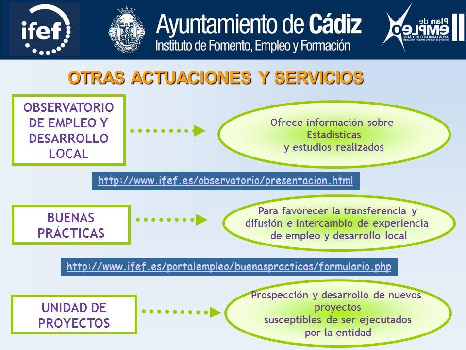 OTRAS ACTUACIONES Y SERVICIOS