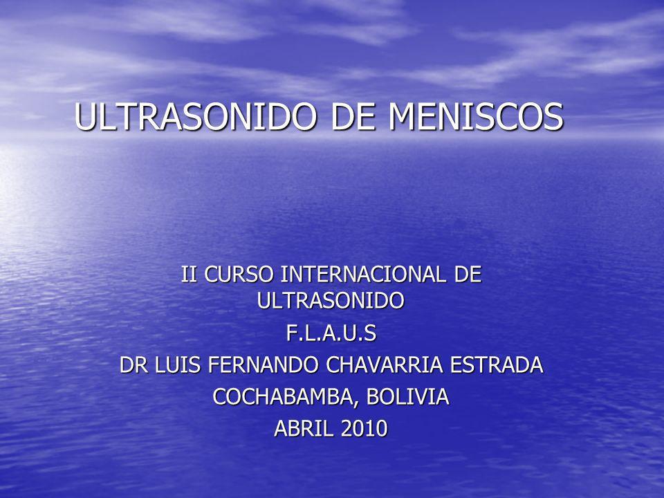 ULTRASONIDO DE MENISCOS
