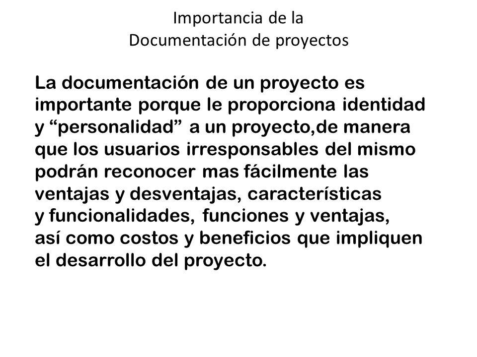 Importancia de la Documentación de proyectos