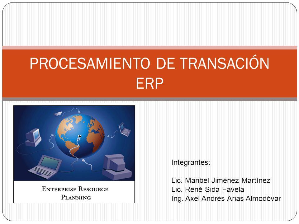 PROCESAMIENTO DE TRANSACIÓN ERP